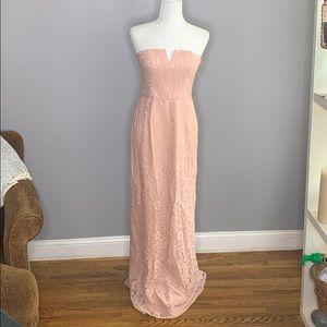 Donna Morgan Pink Column Reese Strapless Dress 4